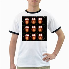 Halloween brown owls  Ringer T-Shirts