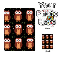 Halloween Brown Owls  Multi Purpose Cards (rectangle)  by Valentinaart