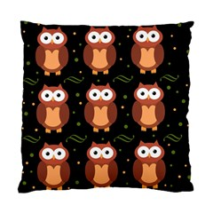 Halloween Brown Owls  Standard Cushion Case (two Sides) by Valentinaart