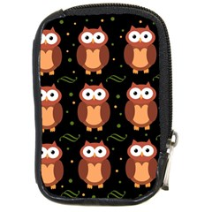 Halloween Brown Owls  Compact Camera Cases by Valentinaart