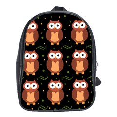 Halloween Brown Owls  School Bags(large)  by Valentinaart