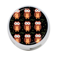Halloween Brown Owls  4 Port Usb Hub (one Side) by Valentinaart