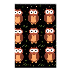 Halloween brown owls  Shower Curtain 48  x 72  (Small)