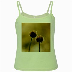 Withered Globe Thistle In Autumn Macro Green Spaghetti Tank by wsfcow