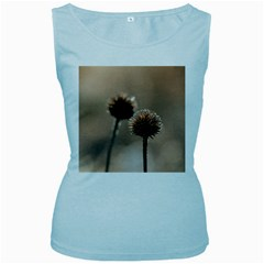 Withered Globe Thistle In Autumn Macro Women s Baby Blue Tank Top by wsfcow