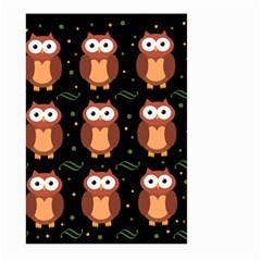 Halloween brown owls  Large Garden Flag (Two Sides)
