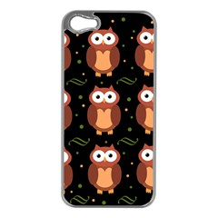 Halloween brown owls  Apple iPhone 5 Case (Silver)