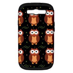 Halloween Brown Owls  Samsung Galaxy S Iii Hardshell Case (pc+silicone) by Valentinaart