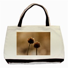 Withered Globe Thistle In Autumn Macro Basic Tote Bag (two Sides) by wsfcow