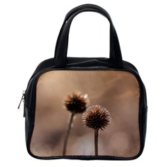 Withered Globe Thistle In Autumn Macro Classic Handbags (one Side) by wsfcow
