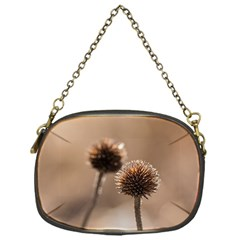 Withered Globe Thistle In Autumn Macro Chain Purses (one Side)  by wsfcow