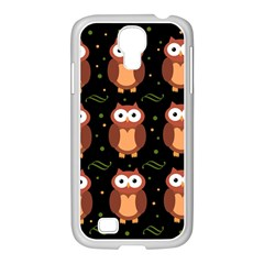 Halloween Brown Owls  Samsung Galaxy S4 I9500/ I9505 Case (white) by Valentinaart