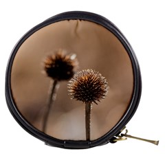 Withered Globe Thistle In Autumn Macro Mini Makeup Bags by wsfcow