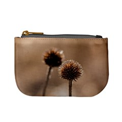 Withered Globe Thistle In Autumn Macro Mini Coin Purses by wsfcow