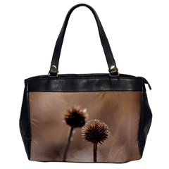 Withered Globe Thistle In Autumn Macro Office Handbags by wsfcow