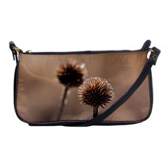 Withered Globe Thistle In Autumn Macro Shoulder Clutch Bags by wsfcow