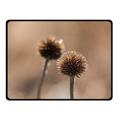 Withered Globe Thistle In Autumn Macro Fleece Blanket (small) by wsfcow
