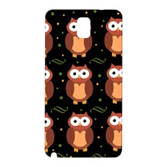 Halloween brown owls  Samsung Galaxy Note 3 N9005 Hardshell Back Case