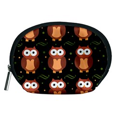 Halloween Brown Owls  Accessory Pouches (medium)  by Valentinaart