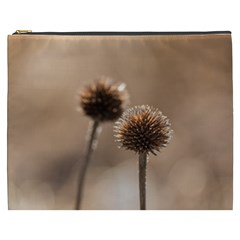 Withered Globe Thistle In Autumn Macro Cosmetic Bag (xxxl)  by wsfcow