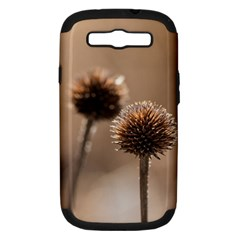 Withered Globe Thistle In Autumn Macro Samsung Galaxy S Iii Hardshell Case (pc+silicone) by wsfcow