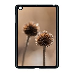 Withered Globe Thistle In Autumn Macro Apple Ipad Mini Case (black) by wsfcow