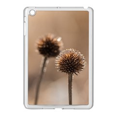 Withered Globe Thistle In Autumn Macro Apple Ipad Mini Case (white) by wsfcow