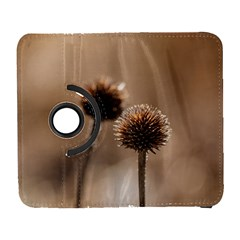 Withered Globe Thistle In Autumn Macro Samsung Galaxy S  Iii Flip 360 Case by wsfcow