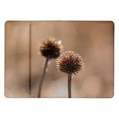 Withered Globe Thistle In Autumn Macro Samsung Galaxy Tab 10 1  P7500 Flip Case by wsfcow