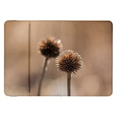 Withered Globe Thistle In Autumn Macro Samsung Galaxy Tab 8 9  P7300 Flip Case by wsfcow