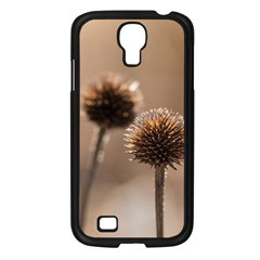 Withered Globe Thistle In Autumn Macro Samsung Galaxy S4 I9500/ I9505 Case (black) by wsfcow