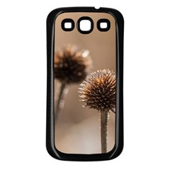 Withered Globe Thistle In Autumn Macro Samsung Galaxy S3 Back Case (black) by wsfcow