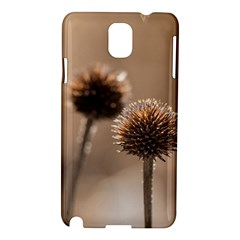 Withered Globe Thistle In Autumn Macro Samsung Galaxy Note 3 N9005 Hardshell Case by wsfcow