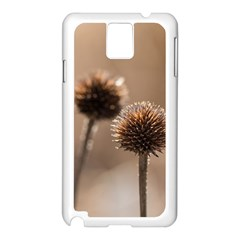 Withered Globe Thistle In Autumn Macro Samsung Galaxy Note 3 N9005 Case (white) by wsfcow