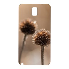 Withered Globe Thistle In Autumn Macro Samsung Galaxy Note 3 N9005 Hardshell Back Case by wsfcow