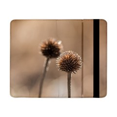Withered Globe Thistle In Autumn Macro Samsung Galaxy Tab Pro 8 4  Flip Case by wsfcow
