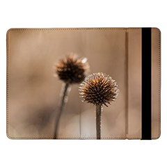 Withered Globe Thistle In Autumn Macro Samsung Galaxy Tab Pro 12 2  Flip Case by wsfcow