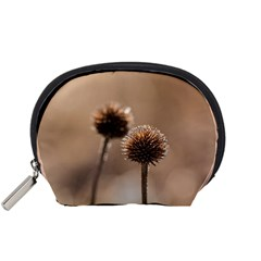 Withered Globe Thistle In Autumn Macro Accessory Pouches (small)  by wsfcow
