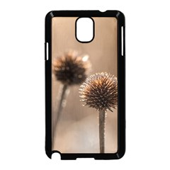 Withered Globe Thistle In Autumn Macro Samsung Galaxy Note 3 Neo Hardshell Case (black) by wsfcow