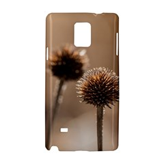 Withered Globe Thistle In Autumn Macro Samsung Galaxy Note 4 Hardshell Case by wsfcow