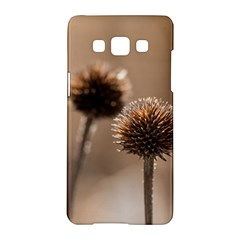 Withered Globe Thistle In Autumn Macro Samsung Galaxy A5 Hardshell Case  by wsfcow
