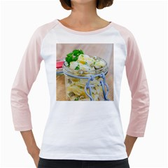 Potato Salad In A Jar On Wooden Girly Raglans by wsfcow