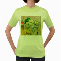 Potato Salad In A Jar On Wooden Women s Green T Shirt by wsfcow