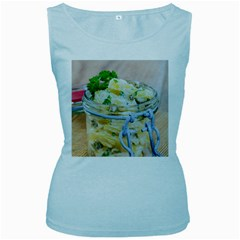 Potato Salad In A Jar On Wooden Women s Baby Blue Tank Top by wsfcow