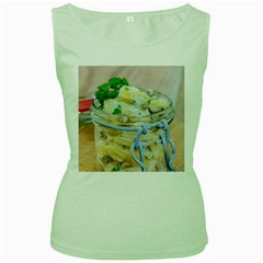 Potato Salad In A Jar On Wooden Women s Green Tank Top by wsfcow