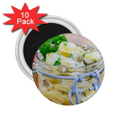 Potato salad in a jar on wooden 2.25  Magnets (10 pack)