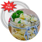 Potato salad in a jar on wooden 3  Buttons (10 pack)  Front