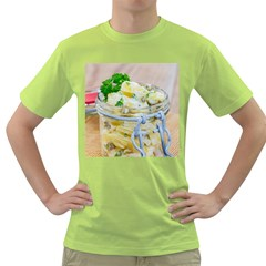 Potato Salad In A Jar On Wooden Green T Shirt by wsfcow