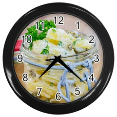 Potato Salad In A Jar On Wooden Wall Clocks (black) by wsfcow