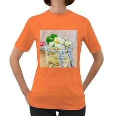 Potato Salad In A Jar On Wooden Women s Dark T Shirt by wsfcow